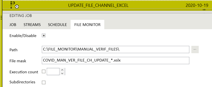Trigger type - File Monitor