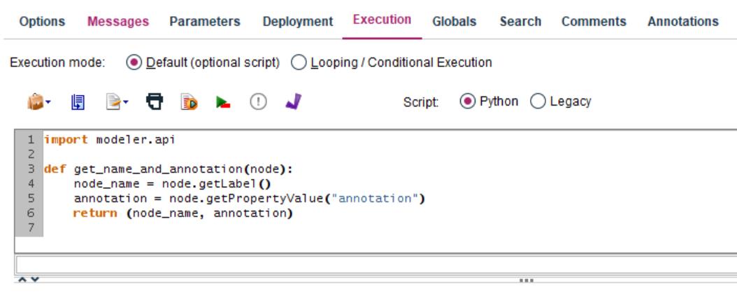 Figure 2. Python sample customized function
