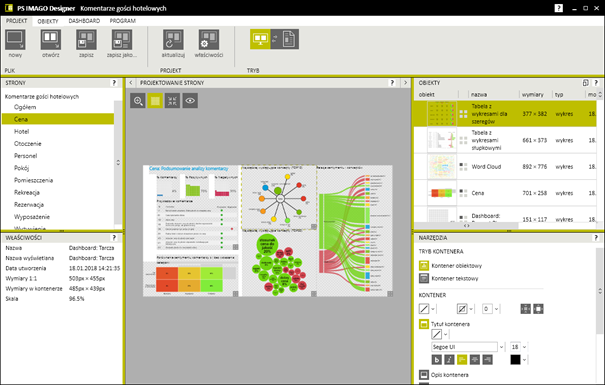 Figure 7. Report design environment