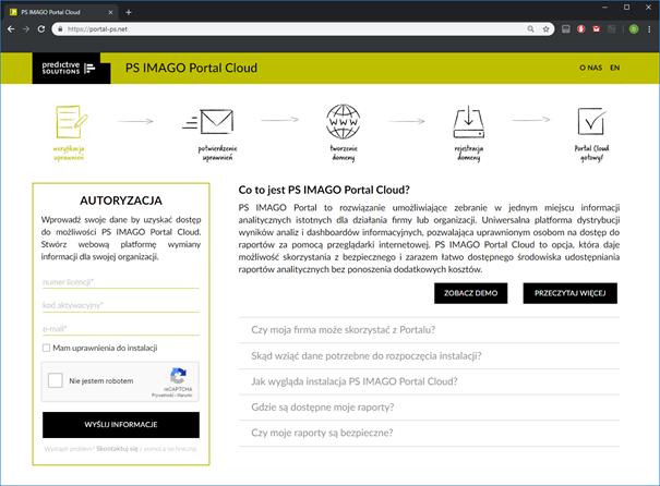 Rysunek 8. Chmurowa wersja portalu do dystrybucji raportów